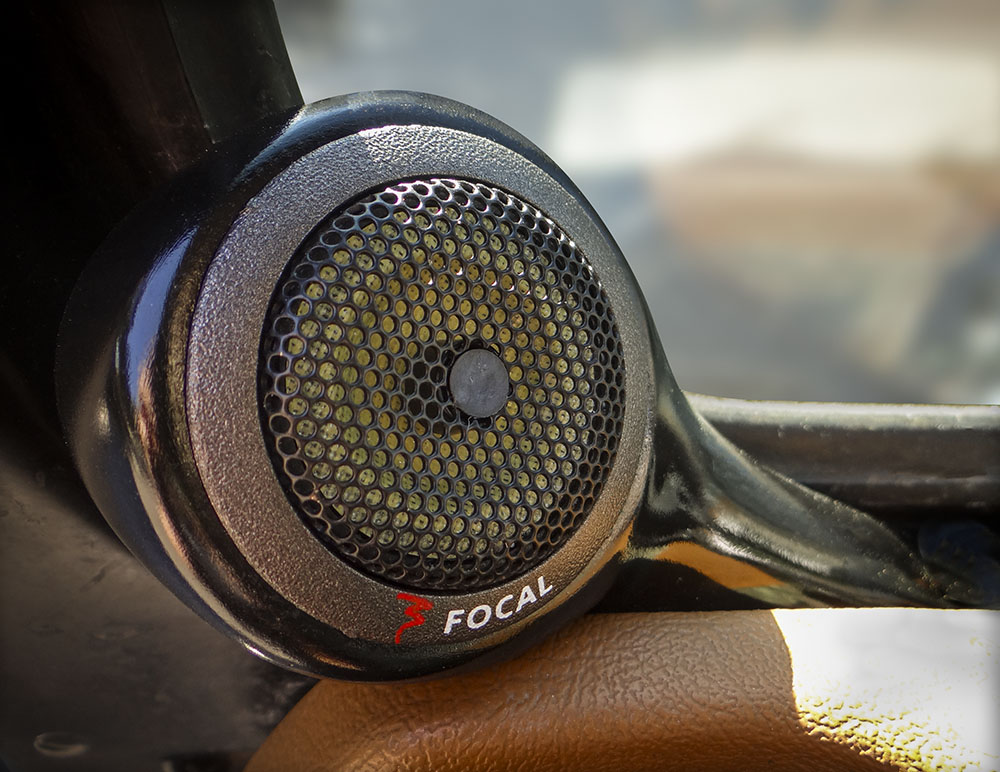 Custom fabricated tweeter pods for dash of Jeep