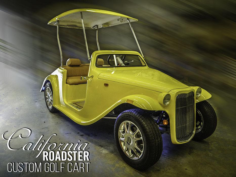 California Roadster Golf Cart Sound Wave Customs